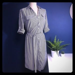Dresses & Skirts - BW Striped Shirt Dress